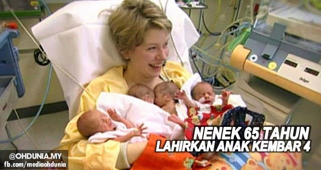 Hebat!.. Nenek berusia 65 tahun selamat lahirkan anak kembar empat