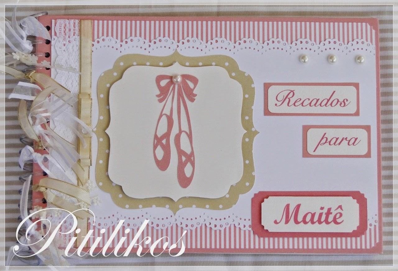 Caderno de Recados - Sapatilhas rosa e bege