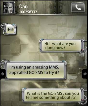 Theme Name : Machine City GO SMS Theme 1.0