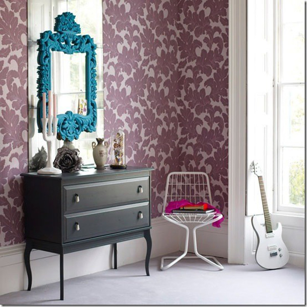 mirror, espelho, home decor, ideias decoração, papel de parede