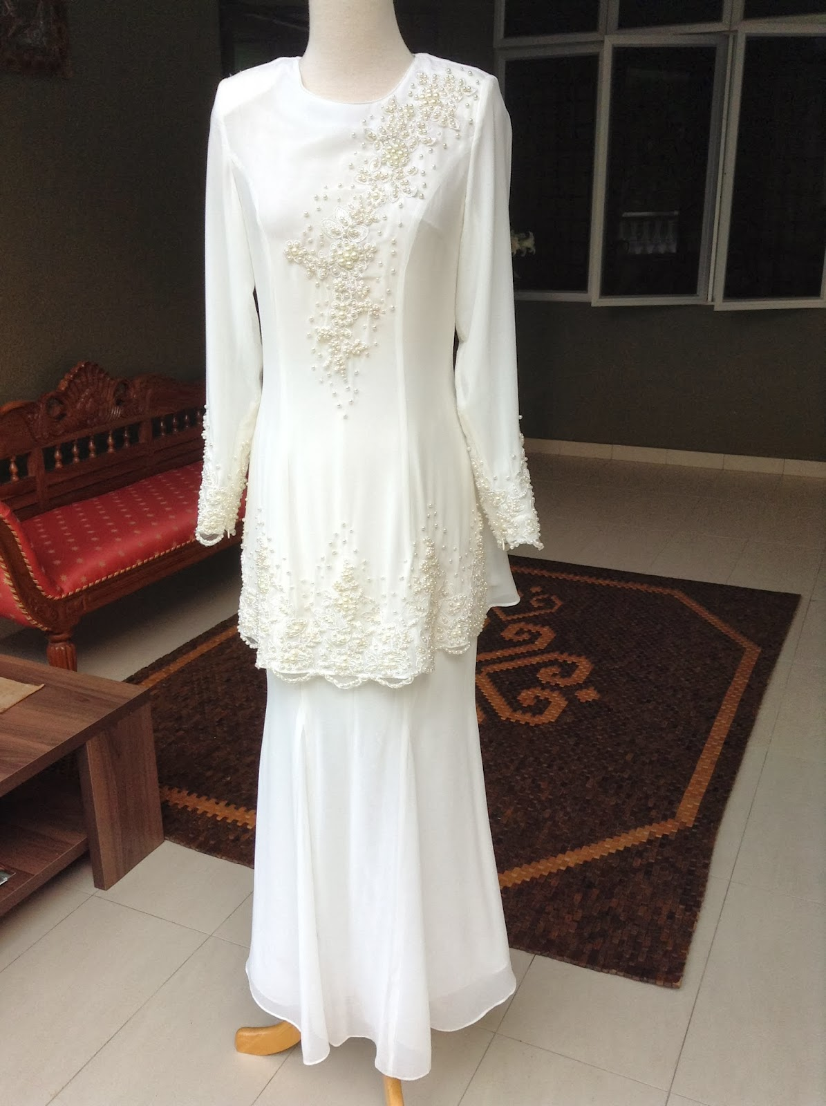 Baju Akad Nikah Tunang Putih My Wedding Dress