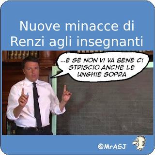 renzi, #labuonascuola, lavagna, satira