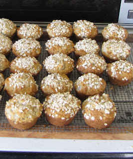 lowfat pear-oatmeal muffins