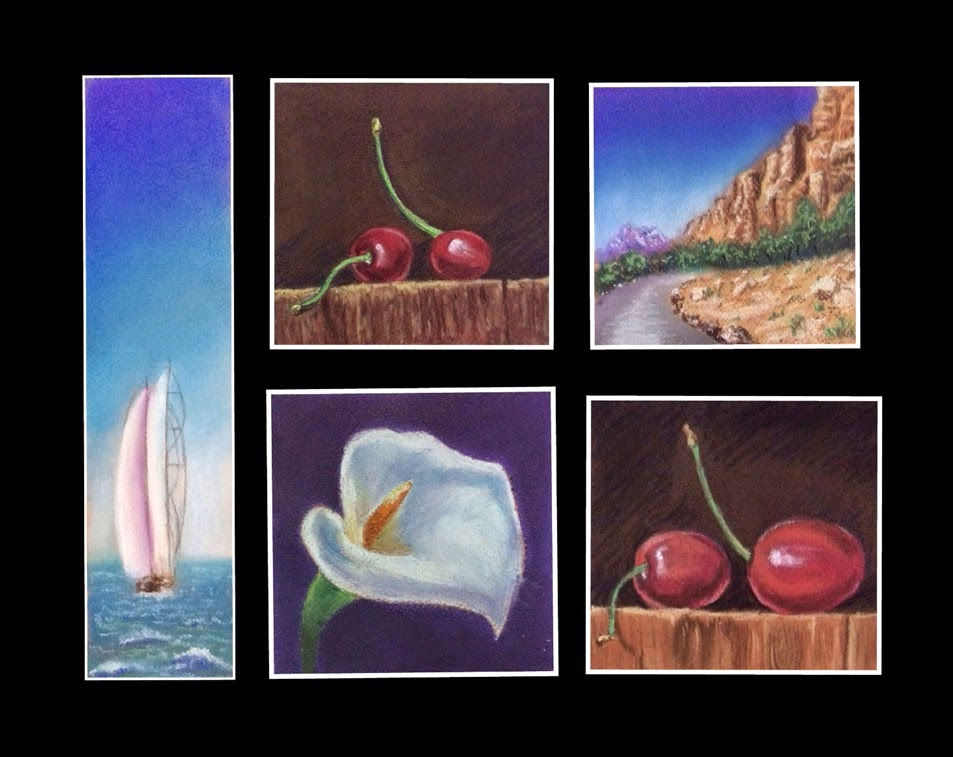 Soft pastel paintings done during 2 days ART WORKSHOP by Manju Panchal