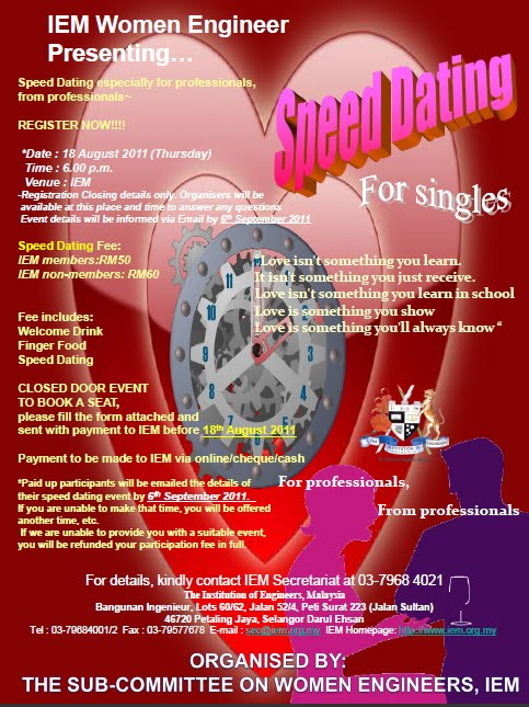 organise speed dating event
