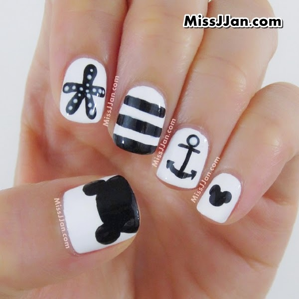 Mickey Mouse Nails: MissJJan's Beauty Blog ♥: {Manicure Monday} Tutorial