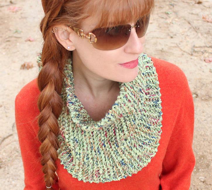 Knit Cowl Pattern Worsted Weight : Layered Yarn Cowl [knitting pattern] - Gina Michele