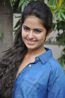 Acress Avika Gor Pictures in Pink Tight Jeans at Uyyala Jampala Movie Press Meet 0003.jpg