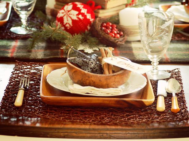 Modern Furniture Rustic Christmas Table Decorations 2013