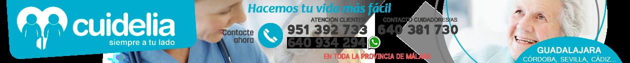CUIDELIA · 640 93 42 94 · Cuidado de mayores en Guadalajara