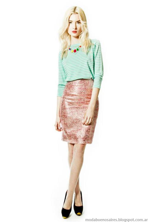 Janet Wise primavera verano 2014. Moda verano 2014 faldas.