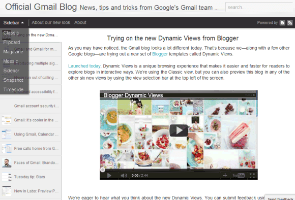 template dynaminc view blogger