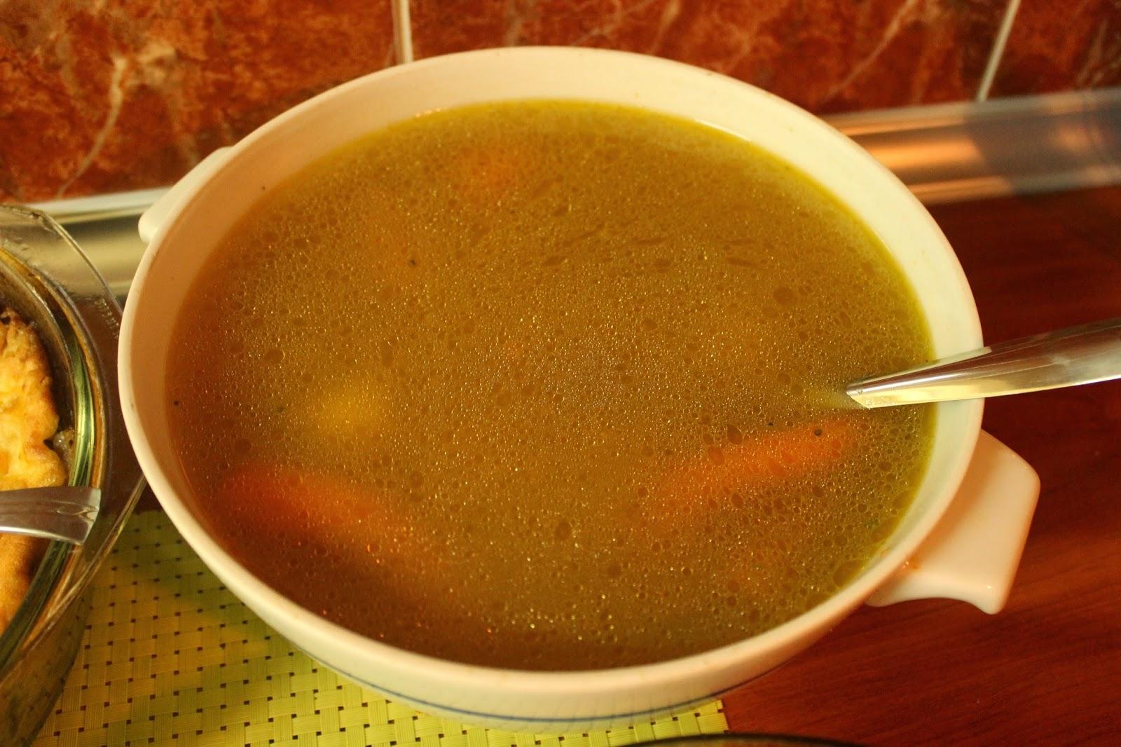 Supa sa curetinom i griz knedlama