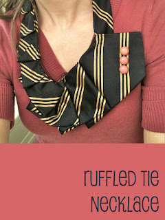 Upcycled necktie necklace tutorial by Coco&Cocoa