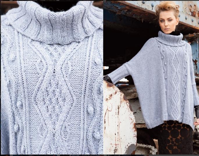 А этот широкий свитер-пончо
