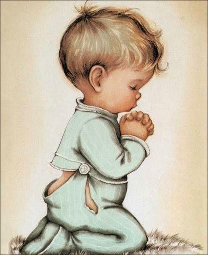 Niños rezando para imprimir