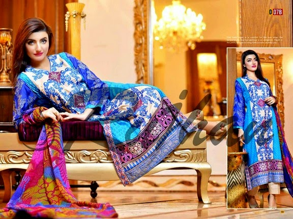 Rujhan Fabrics Eid Collection 2014
