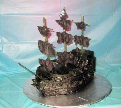 Pirate Ship Cake of The Black Pearl from Pirates of the Caribbean - Front Angle View 2