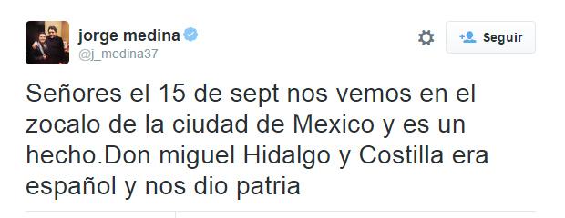 Vocalista de La Arrolladora Banda El Limón recibe criticas por decir que Hidalgo era español