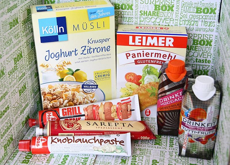 Degustabox Februar Snacks & Drinks