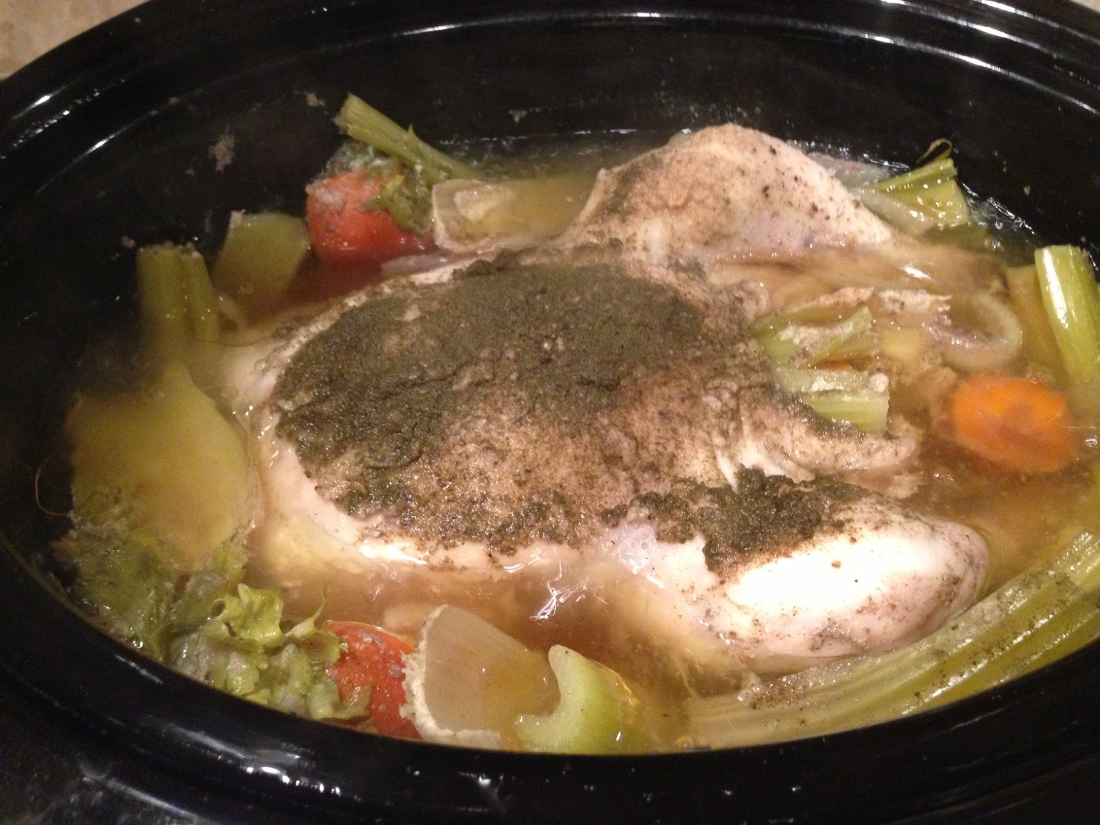 Whole Chicken in the Crock Pot + Homemade Chicken Broth