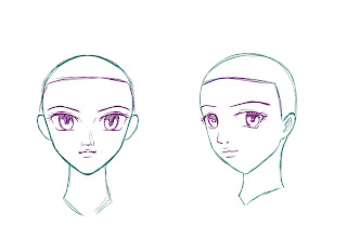 How To Draw Anime Hair Step 1