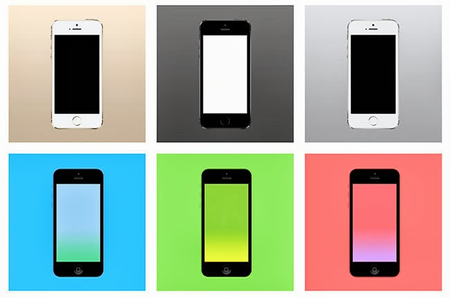 iphone 5s and iphone 5c, android, windows phone, free mockup to download