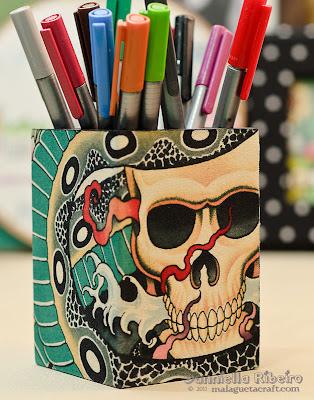 porta canetas lapis decorados  personalizados artesanais objeto decoração papelaria