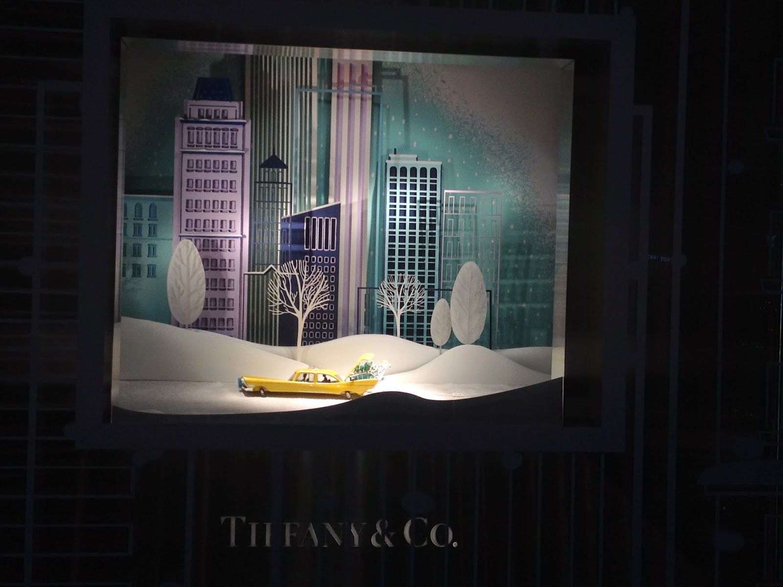 Tiffany & Co. New York themed holiday window, Champs-Elysées, Paris
