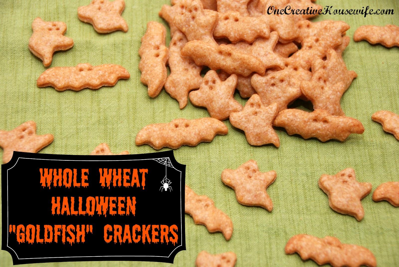 "One Creative Housewife: Homemade Whole Wheat ""Goldfish ..."