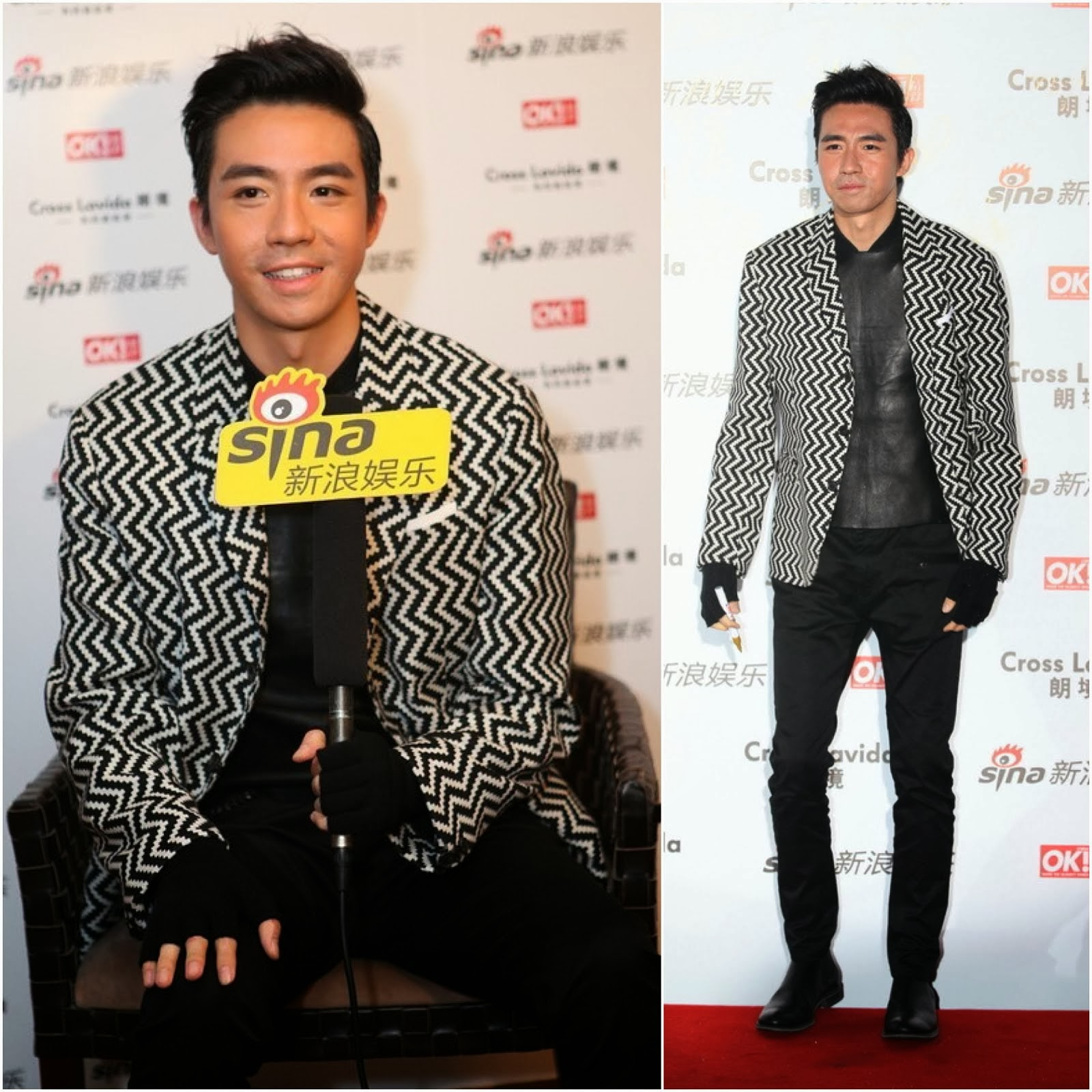 "00O00 Menswear Blog: Yu Hao Ming [俞灏明] in Neil Barrett - Sina and OK Magazine event, Shanghai 新浪娱乐与《OK!精彩》杂志上海 ""明星街拍盛典"""