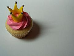 crowned cupcake