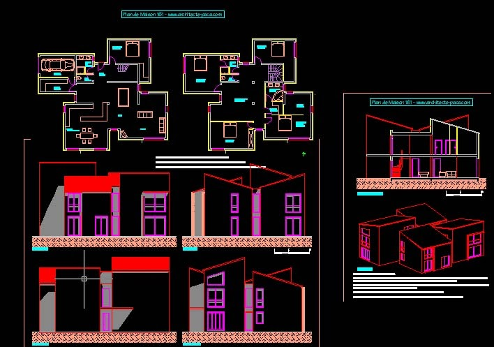 Engineering et architecture plan de maison for Architecture de plan libre