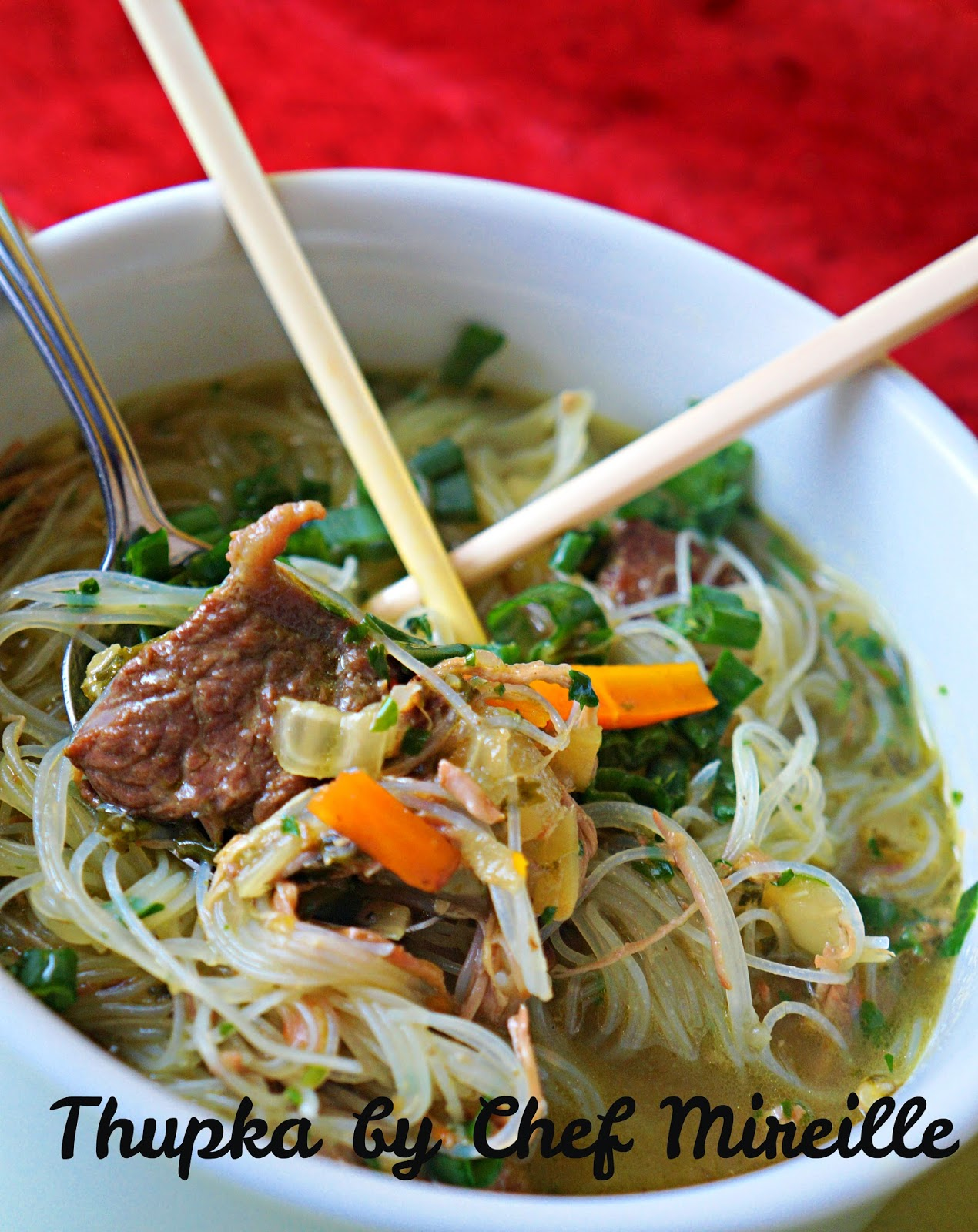 thupka...nepali/north east indian noodle soup