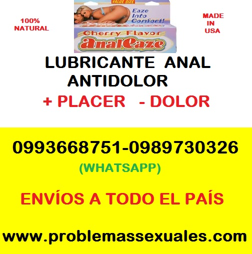ANAL EAZE: LUBRICANTE ANAL ANTIDOLOR