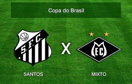 Santos x Mixto/MT pela Copa do Brasil 2014