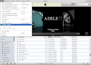 iTunes Duplikate anzeigen