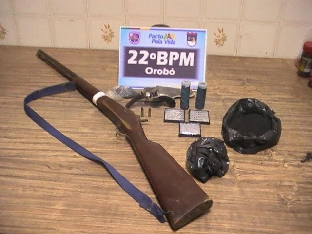 apreenção de Armas em Orobó