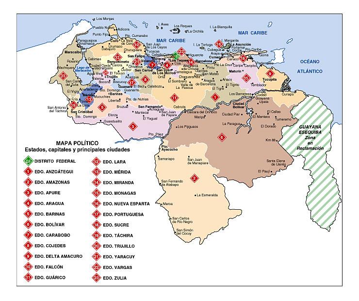 Mapa Político de América del Sur | Atlas Mundial