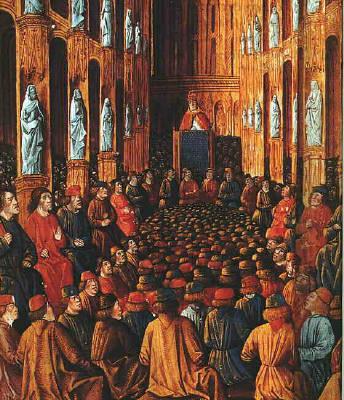 El Concilio de Clermont convocado en 1095 por el Papa Urbano para recuperar la Tierra Santa