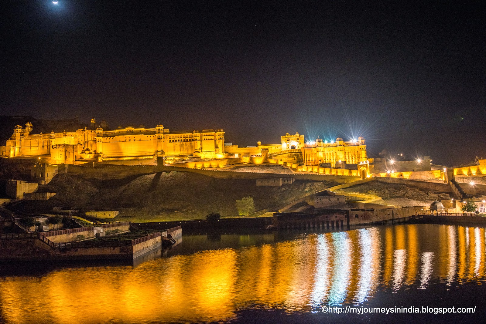 Amer Fort Jaipur at Night