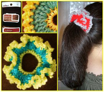 Crochet Pony Tail Scrunchie Tutorial Free Instructions