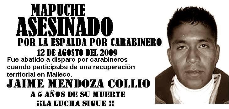JAIME MENDOZA COLLIO , ASESINADO POR LA ESPALDA
