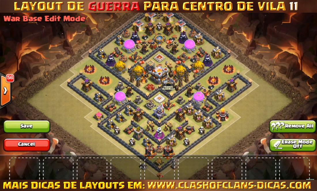 layouts de cv11 para guerra