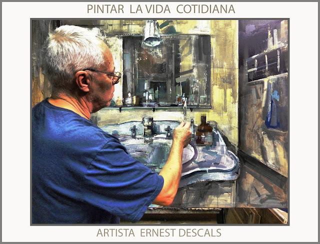 LAVABO-PINTURAS-VIDA COTIDIANA-PINTAR-PINTURA-CUADROS-ARTISTA-PINTOR-ERNEST DESCALS-