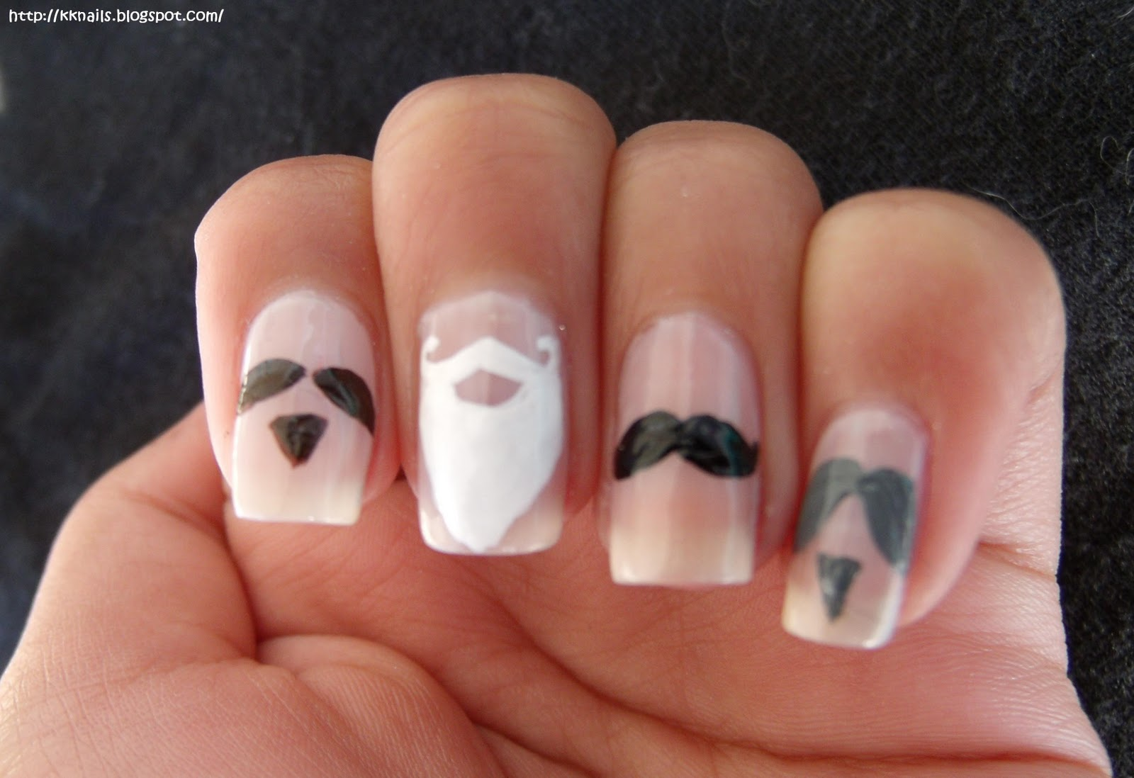 KK Nails: Moustache Mani Monday! :{D