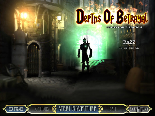 Depths of Betrayal Collector's Edition Main Menu