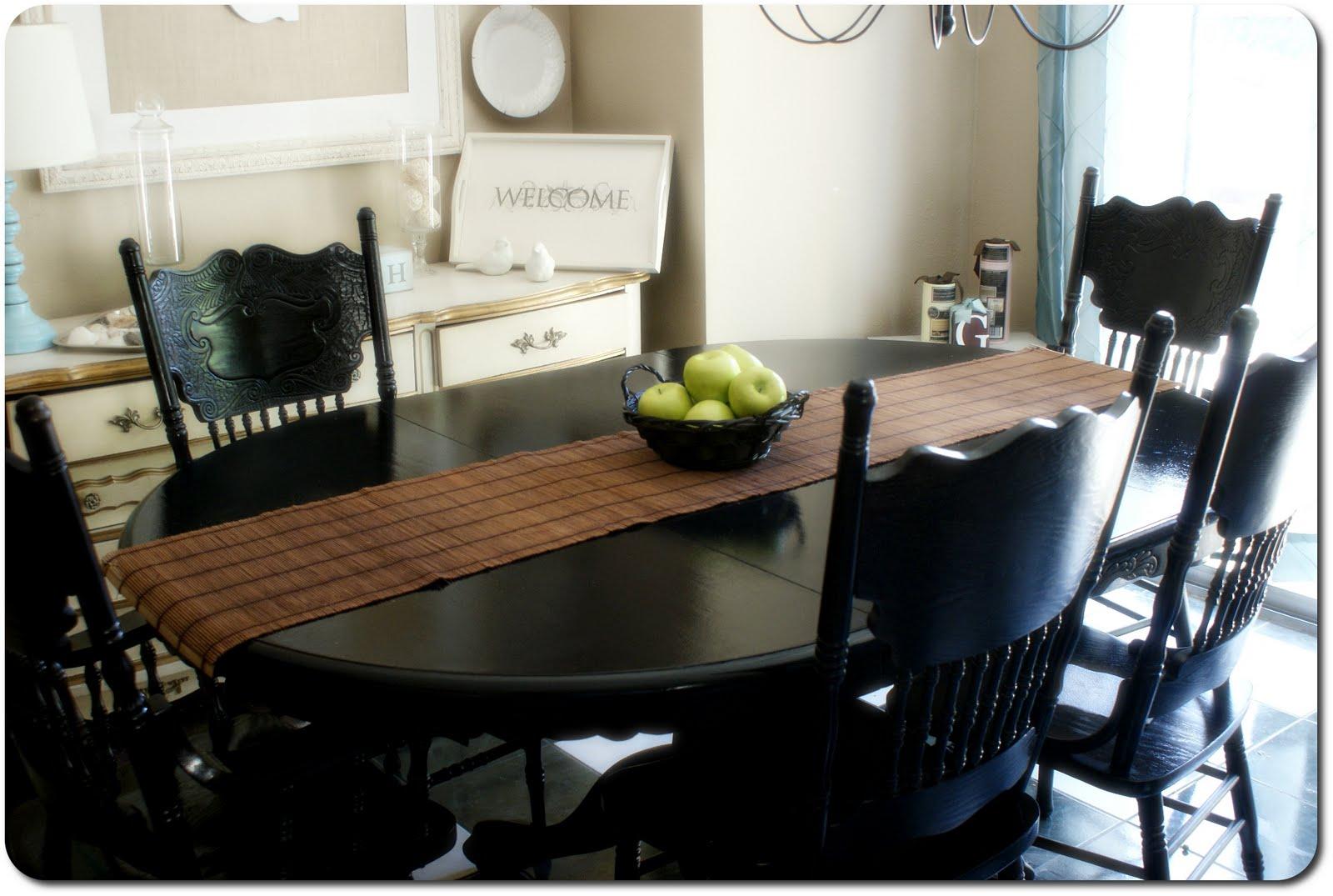 11 07 2013I Heart My Glue Gun  2013. Painting Dining Table Black. Home Design Ideas