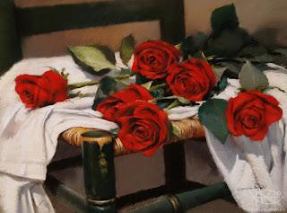 Cuadros Flores Rojas Pintura