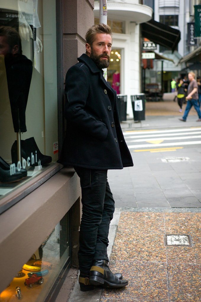 NZ street style, Schott clothing, motorbike boots, NZFW2013, street style, street photography, New Zealand fashion, hot models, auckland street style, hot kiwi men, kiwi fashion